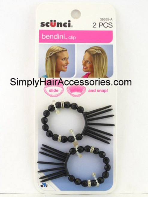 Scunci Bendini Hair Clip - Black - 2 Pcs.