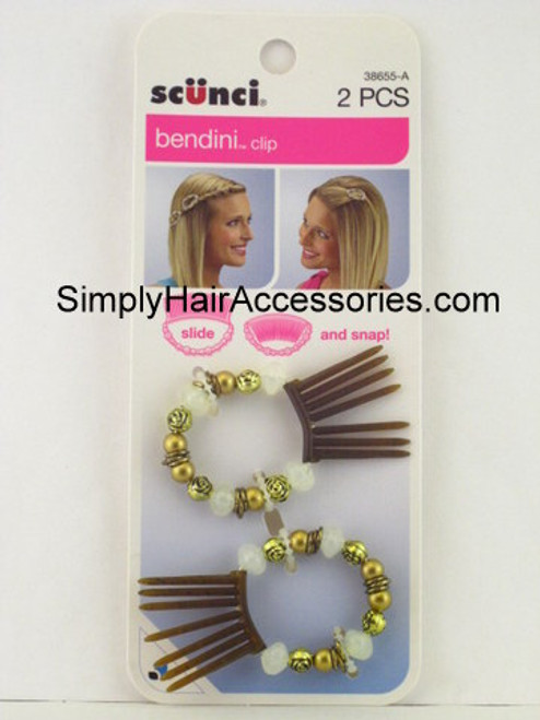 Scunci Bendini Hair Clip - Brown & Clear - 2 Pcs.
