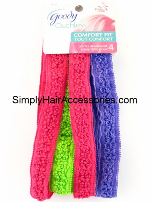 Goody Ouchless Gentle Head Bands - 4 Pcs.