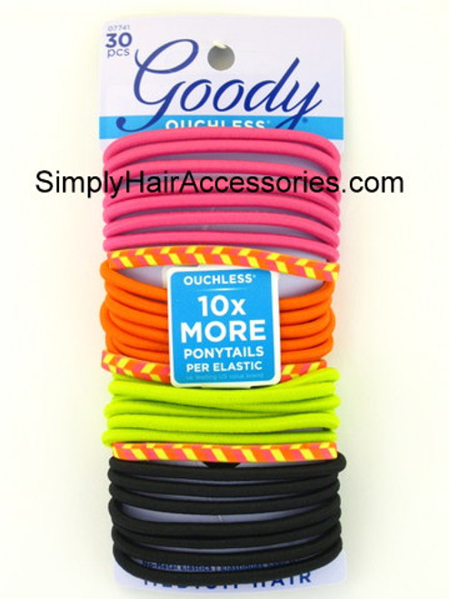 "Goody Ouchless ""Citrus Brights"" Elastics - 30 Pcs."