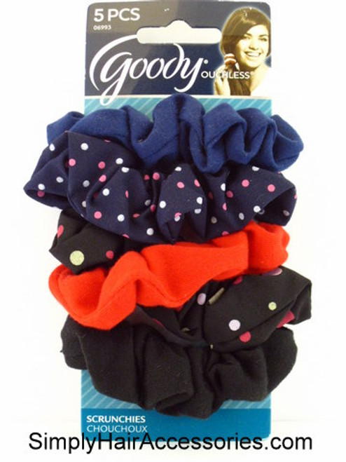 Goody Ouchless Hair Scrunchies - 5 Pcs.