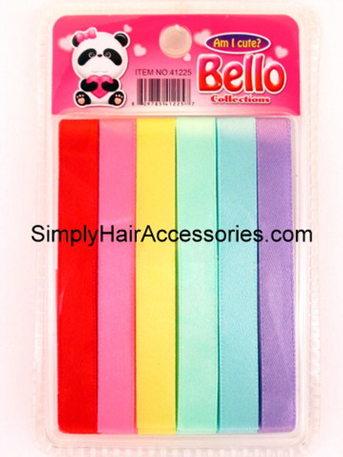 Bello Girls Assorted Hair Ribbons - 6 Pcs.