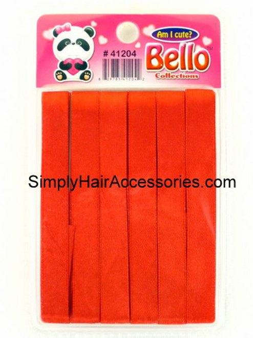 Bello Red Hair Ribbons - 6 Pcs.
