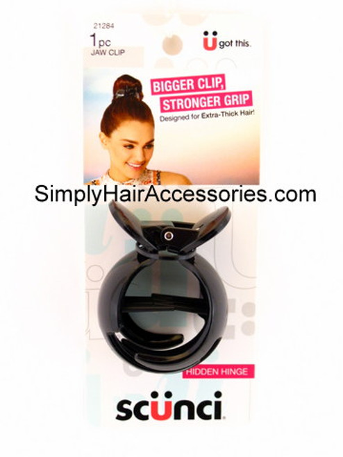 Scunci Hidden Hinge Extra Thick Hair Jaw Clip - 1 Pc.