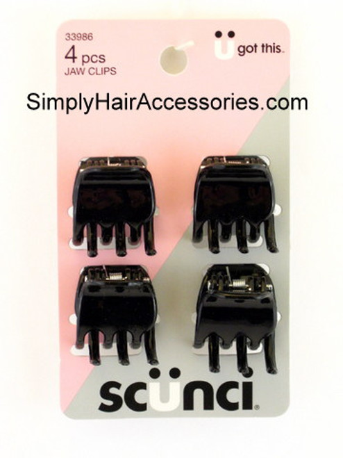 Scunci Jaw Hair Clips - 4 Pcs.