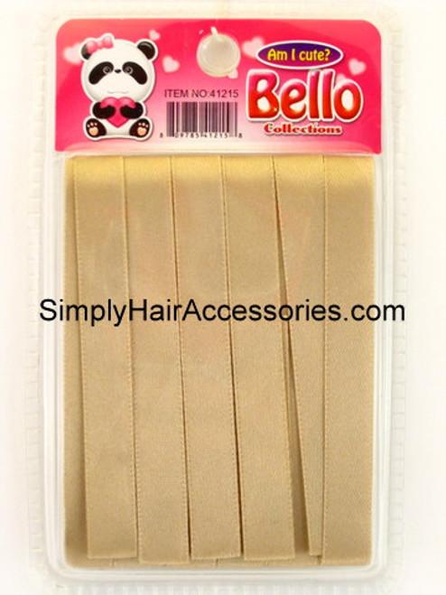 Bello Girls Beige Hair Ribbons  - 6 Pcs.