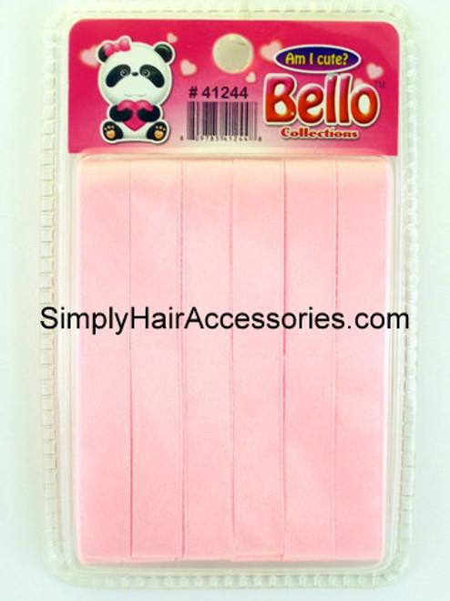 Bello Girls Baby Pink Hair Ribbons  - 6 Pcs.