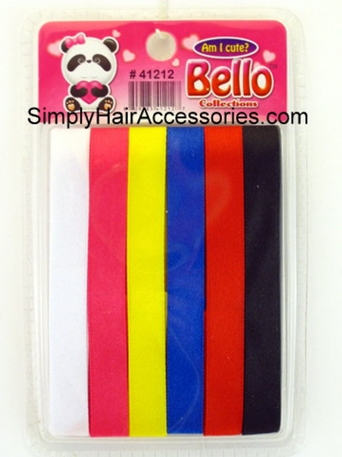 Bello Assorted Hair Ribbons - 6 Pcs.