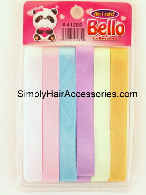 Bello Assorted Hair Ribbons - 6 Pcs. (41285)
