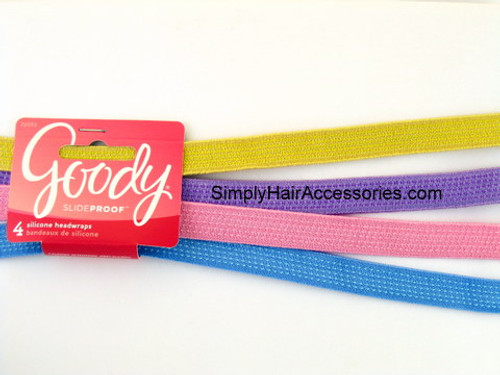 Goody Girls Slideproof Silicone Head Bands - 4 Pcs.