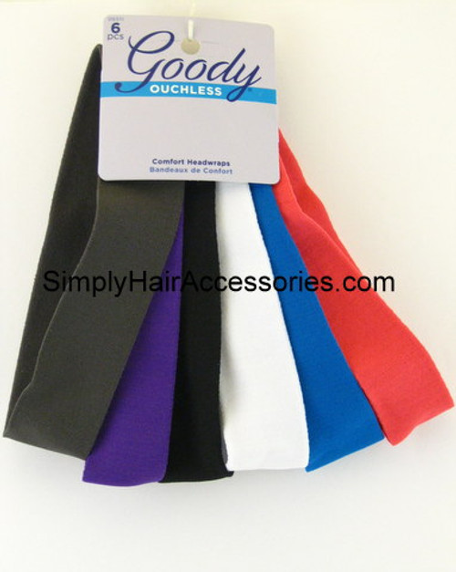 Goody Ouchless Head Wraps - 6 Pcs.