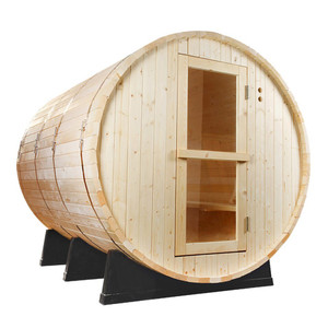 Pine Barrel Sauna - Outdoor Saunas - Redwood Outdoors. Enjoy the heat and steam in this classic Scandinavian barrel sauna, made from Finnish White pine