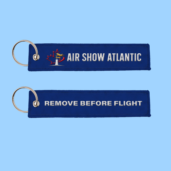 Air Show Atlantic REMOVE BEFORE FLIGHT Key Tag