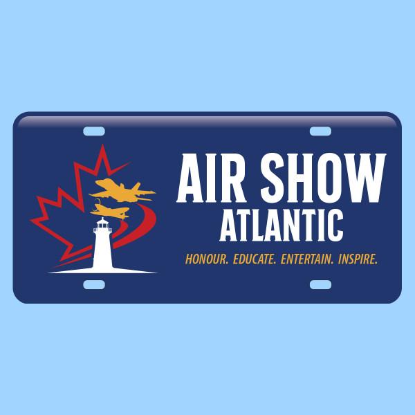 Air Show Atlantic License Plate