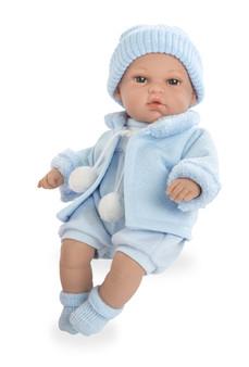 Ann Lauren Dolls 13 Inch Baby Boy Doll with Pacifier