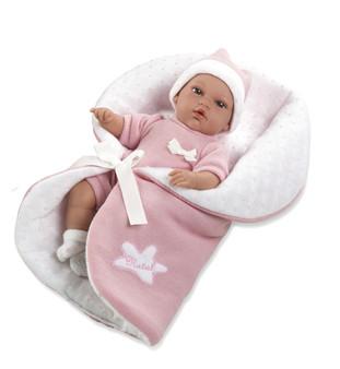 Ann Lauren Dolls Baby Natal Pink- 13 Inch Baby Doll