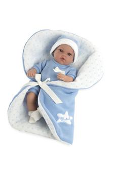 Ann Lauren Dolls 13 Inch Baby Natal Blue