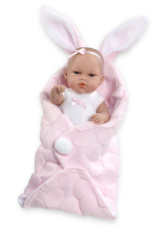 Ann Lauren Dolls Pink Bunny Baby Girl Doll -13 Inch Baby Doll