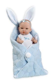 Ann Lauren Dolls Blue Bunny Baby Boy Doll- 13 Inch Doll
