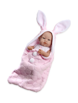Ann Lauren Dolls 17 Inch Baby Girl Doll with Pink Bunny Bunting