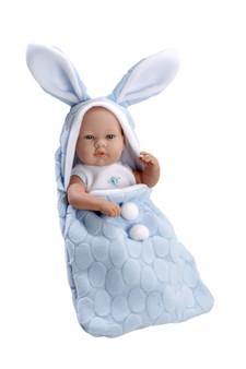 Ann Lauren Dolls 17 Inch Baby Boy Dolls with Blue Bunny Bunting