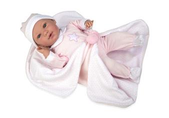 Ann Lauren Dolls 17 Inch Newborn Baby Doll- Pink Star Romper