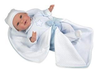 Ann Lauren Dolls 17 Inch Newborn Baby Doll- Blue Star Romper