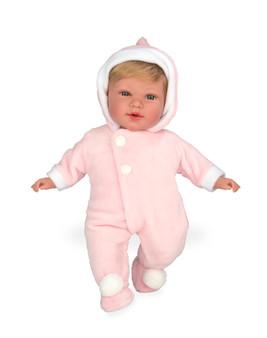 Ann Lauren Dolls 17 Inch Baby Doll with Pink Snowsuit
