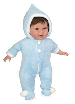 Ann Lauren Dolls 17 Inch Baby Doll with Blue Snow Suit