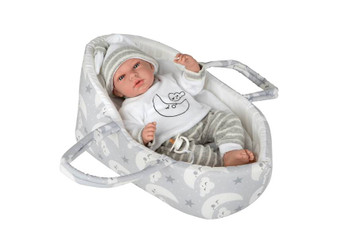 Ann Lauren Dolls 15.2 Inch Baby Doll in Bassinet