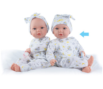 Baby Doll in Moon Pjs with Blue Pacifier