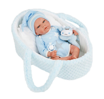 2020 for New Design Reborn Baby Nicolas Doll With Bassinet- Preorder Ships in One Week