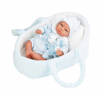 New for  2020 Design 16 Inch Baby Reborn Joseph with Bassinet
