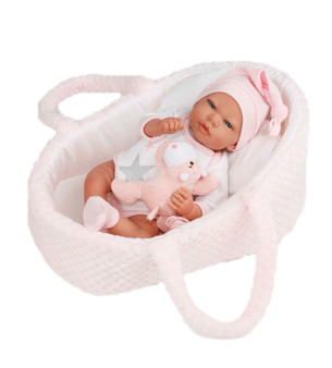 New for 2020 Baby Natalia 16 Inch Reborn with Bassinet