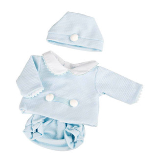 3 Piece Baby Doll Clothes Fits 15.2 Bassinet Babies and 16 Inch Reborn Baby Dolls