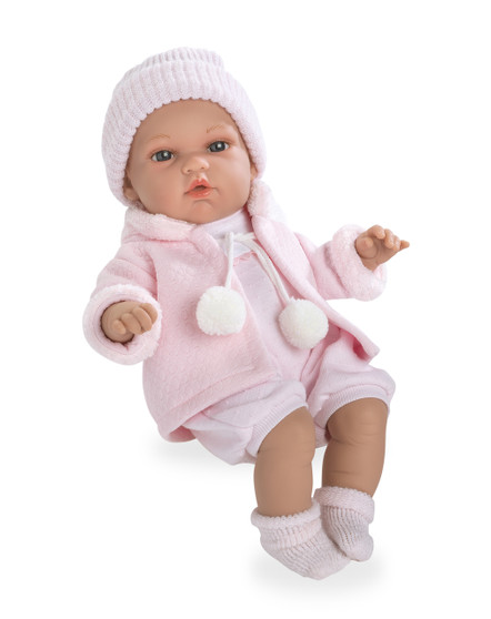 Ann Lauren 13 Inch Baby Girl Doll with Pacifier