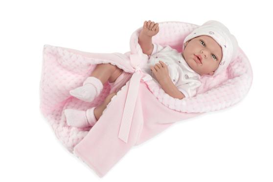 Ann Lauren Dolls 15 Inch Baby Girl Doll with Pacifier