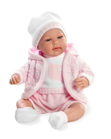 Ann Lauren Dolls 18 inch Newborn Baby Doll-Soft Vanilla Scented Vinyl and Sound Feature.