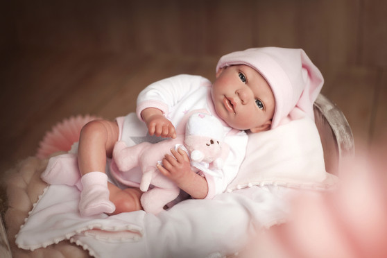 Ann Lauren Dolls Reborn Baby Doll Gala- Sold Out Please see Lauren and Natalia Same Baby in Bassinet
