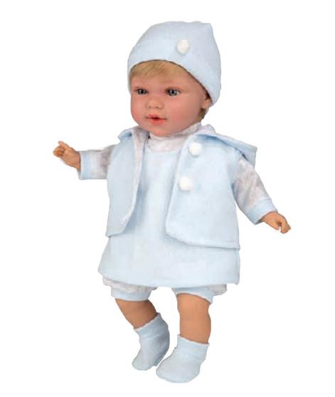 Ann Lauren Dolls 17 Inch Baby Doll with Blue Dress-Blonde