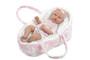 Ann Lauren Baby Dolls 15.2 Inch Pink Bassinet