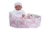Ann Lauren Dolls Pink Stars Bassinet with 15.2 Baby Doll