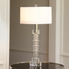 Clear Ribbed Table Lamp