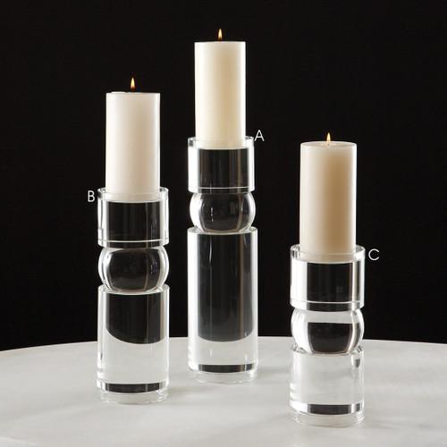 Bipolar Crystal Candle Holder