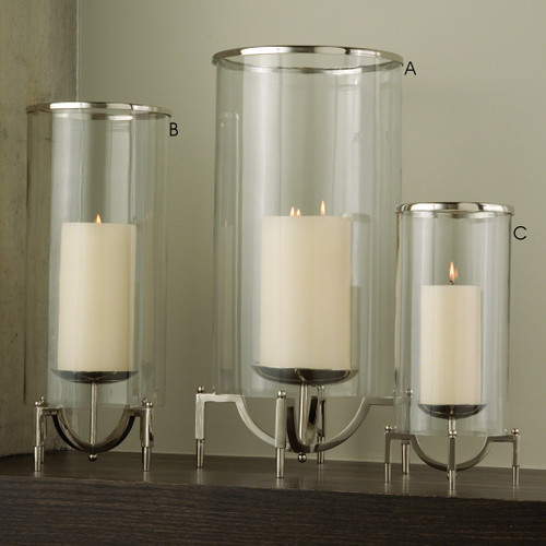 Elevated Hurricane Candle Holder