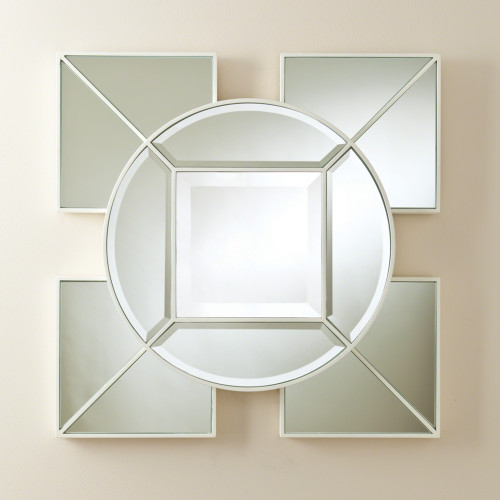 Arabesque Square Mirror White