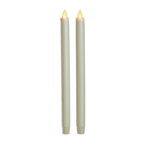 "Classic Taper Ivory 12"" (set of 2)"