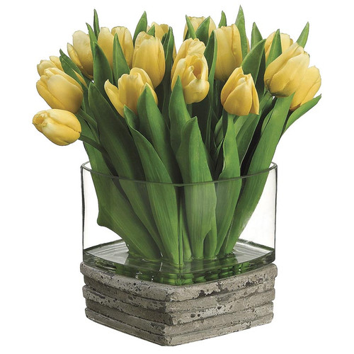 Dutch Tulip in Glass/Stone 12""