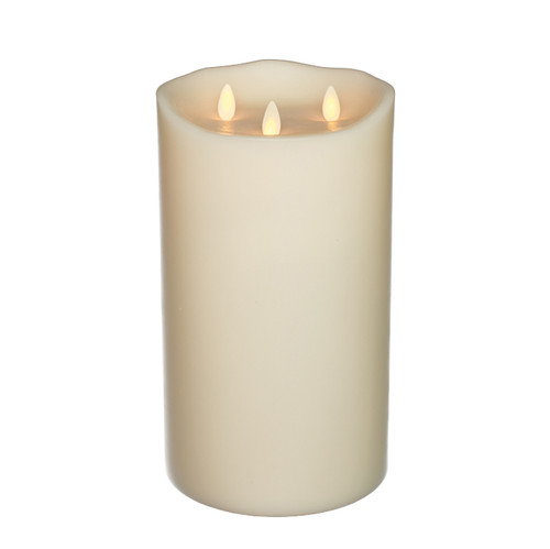 "Classic TriFlame Pillar Ivory 6"" x 10"""
