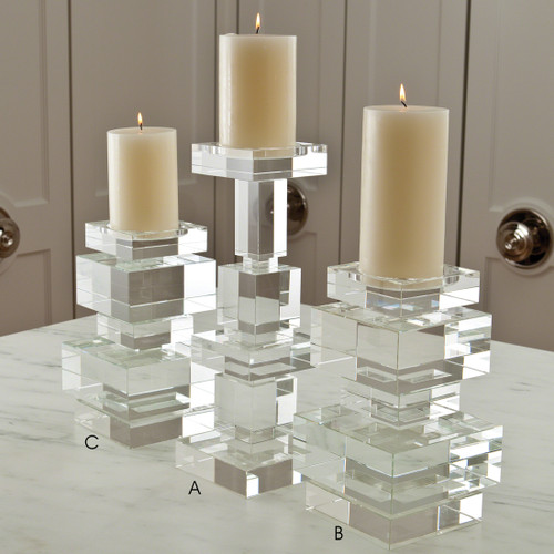 Brilliant Crystal Candle Holder